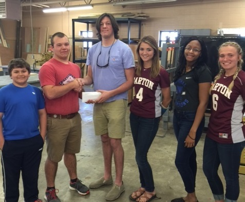 SkillsUSA makes donation to Relay for Life